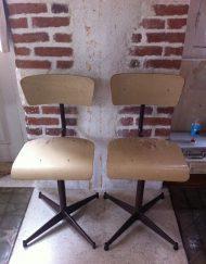 chaise atelier réglable paire
