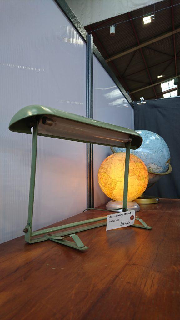 lampe neon design charlotte perriand vert années 50 60 mr hattimer brocante vintage Limoges