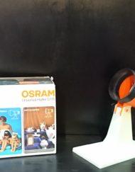 Lampe osram orange beige noir années 70 mr hattimer brocante vintage limoges