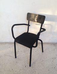 fauteuil noir mat brocante limoges
