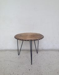 gueridon table basse rotin vintage