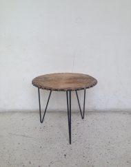 gueridon table basse rotin vintage