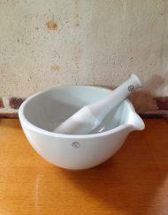 mortier porcelaine d'Auvergne
