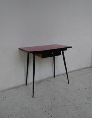 table formica rouge annees 60 pieds metal