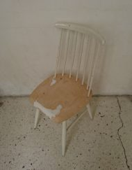 chaise tapiovaara ilmara blanche bois mr hattimer brocante vintage limoges
