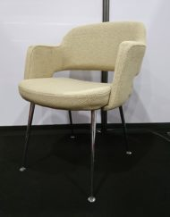 fauteuil type saarinen années 60 laine beige mr hattimer brocante vintage limoges