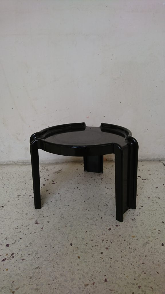 table d'appoint stoppino kartell noir mr hattimer brocante vintage limoges
