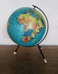 globe tripode années 60 carte taride mr hattimer brocante vintage limoges
