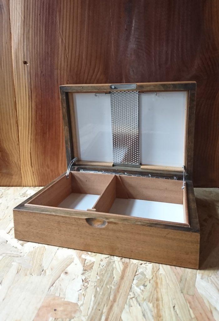 boite à cigare avec humidificateur bois massif mr hattimer brocante vintage limoges