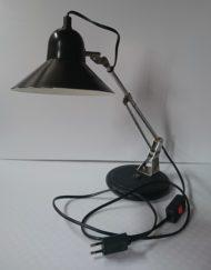 lampe aluminor noir métal années 70 mr hattimer brocante vintage limoges