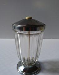 Sucrier des années 30 en verre et métal mr hattimer brocante vintage limoges