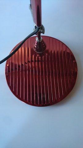lampe style artemide rouge metal années 80 brocante vintage limoges