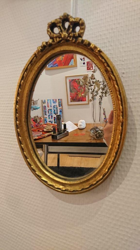 miroir doré petit mr hattimer brocante vintage limoges