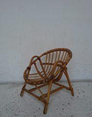Fauteuil en rotin enfant années 60 mr hattimer brocante vintage limoges