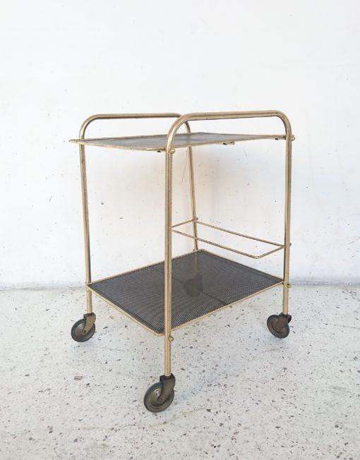 desserte bar années 60 doréé et noire mr hattimer brocante vintage limoges