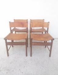 chaises design Jorge zalszupin bois de rose cuir années 50 mr hattimer brocante vintage limoges