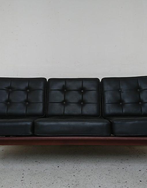 canapé kofod larsen années 60 tissu gris bois massif mr hattimer brocante vintage limoges