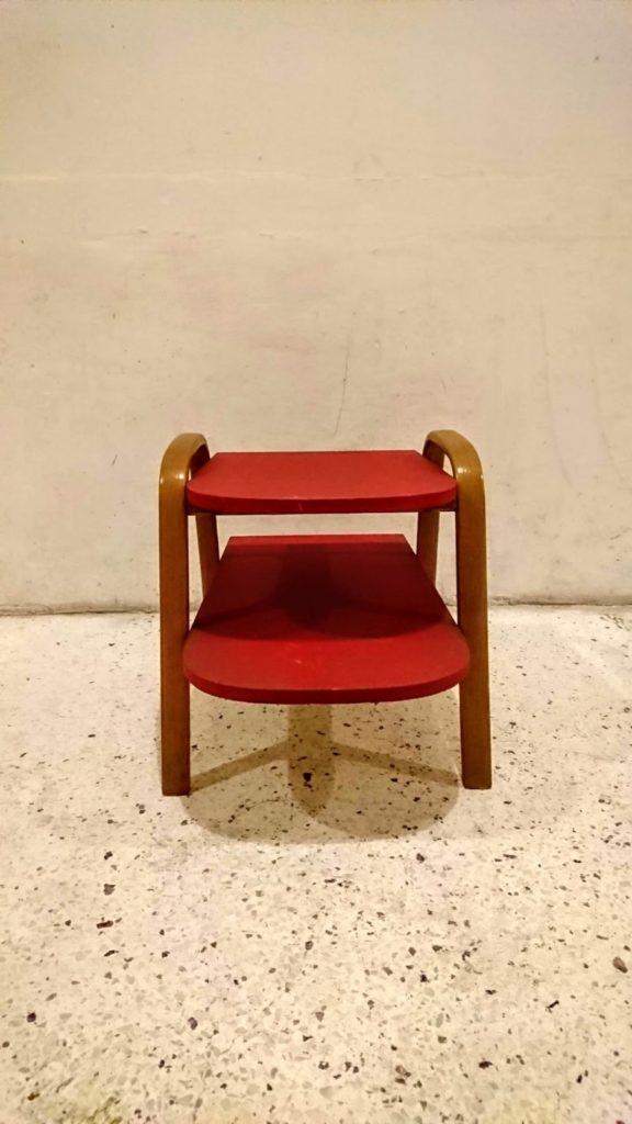 table d'appoint bow wood steiner design hugues steiner mr hattimer brocante vintage limoges