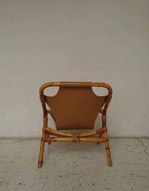 fauteuil rotin skai annees 60 mr hattimer brocante vintage limoges