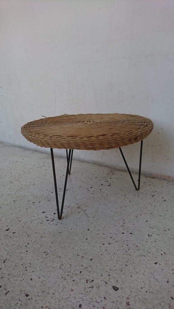 table basse rotin mathieu mategot pierre guariche mr hattimer brocante vintage limoges