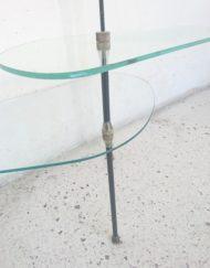 étagères de commerce ancienne verre metal laiton modulable démontable mr hattimer brocante vintage limoges
