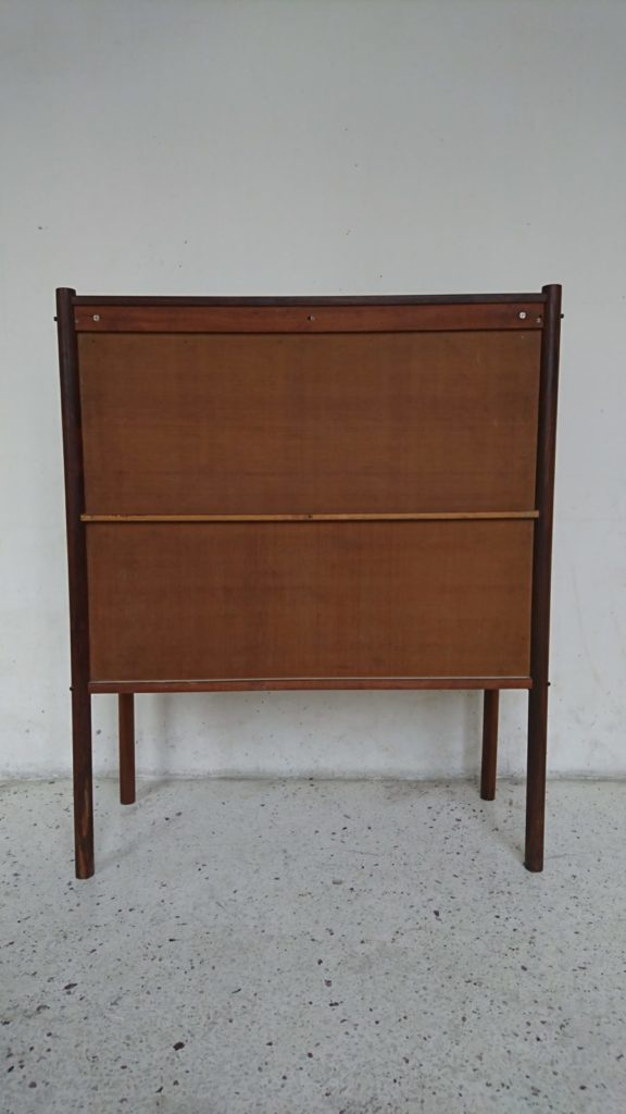 meuble bar design Jorge zalszupin bois de rose cuir années 50 mr hattimer brocante vintage limoges