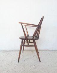 fauteuil ercol bois massif orme design lucian ercolini ercol mr hattimer brocante vintage limoges
