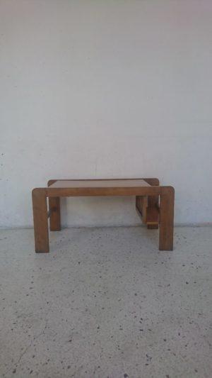 table basse moderniste bois mr hattimer brocante vintage limoges