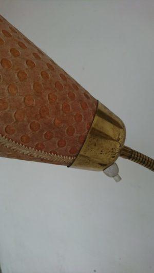 lampadaire tripode triple abat jour laiton tissu mr hattimer brocante vintage limoges