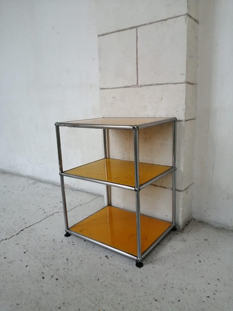 meuble usm haller jaune meuble d'appoint mr hattimer brocante vintage limoges