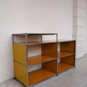meuble usm haller jaune quatre cases mr hattimer brocante vintage limoges