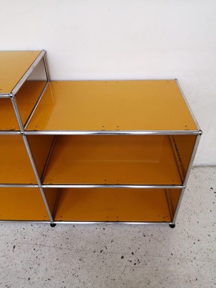 meuble usm haller jaune quatre cases mr hattimer brocante vintage limoges