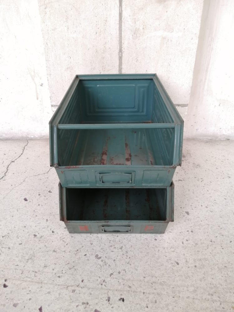 Caisse industrielle schafer kasten larger-fix 2 vert mr hattimer brocante vintage limoges