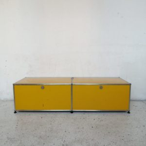 banc tv usm haller jaune or mr hattimer brocante vintage limoges