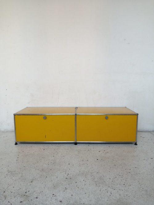 banc tv usm haller jaune or mr hattimer brocante vintage limoges