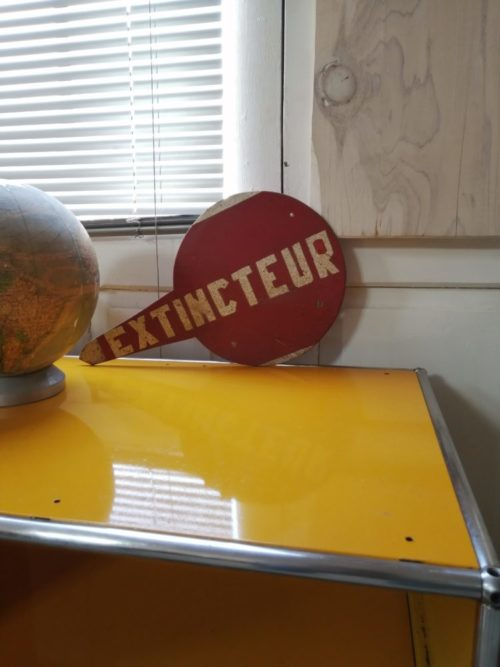 Panneau extincteur brocante vintage mr hattimer limoges