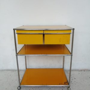meuble usm haller desserte jaune or mr hattimer brocante vintage limoges
