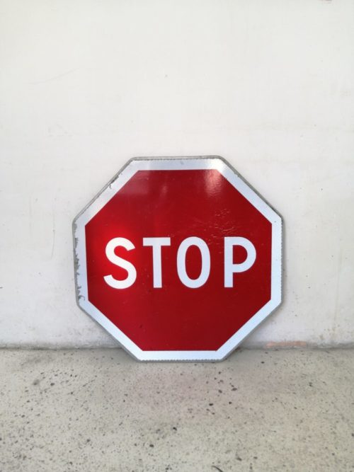Panneau de signalisation circualation stop mr hattimer brocante vintage limoges