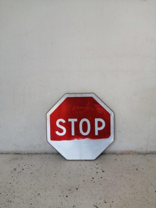 Panneau de signalisation circulation mr hattimer brocante vintage limoges