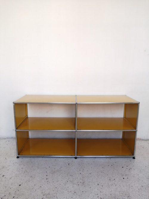 meuble usm jaune or metal chrome mr hattimer brocante vintage limoges