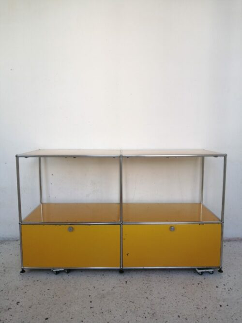 Meuble usm 4 unités jaune or commande Lisa mr hattimer brocante vintage limoges