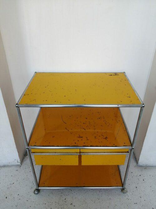 Meuble USM desserte 2 unités mr hattimer brocante vintage limoges