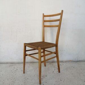 Chaise corde tressé années 60 mr hattimer brocante vintage limoges