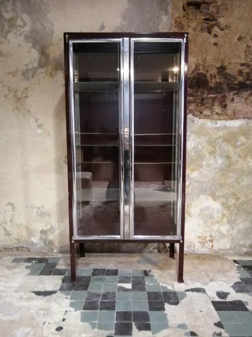 meuble vitrine metal mr hattimer brocante vintage limoges