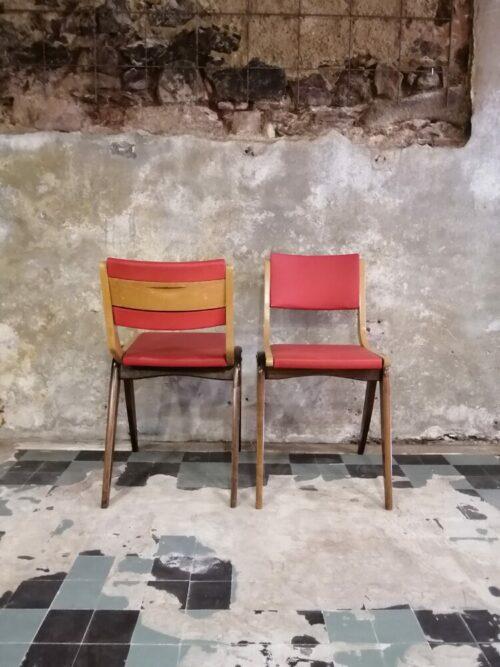 chaise années 60 rouge Mr hattimer brocante vintage limoges