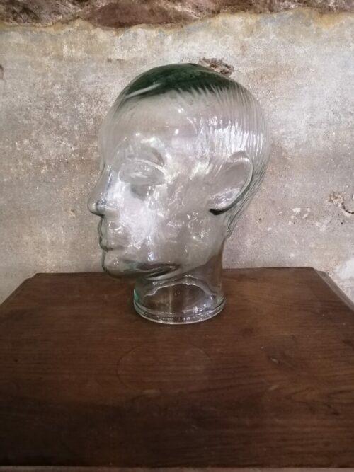 tete en verre des années 60 mr hattimer brocante vintage limoges